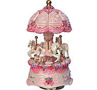 abordables -Boîte à musique Boîte à musique carrousel Unique Femme Fille Enfant Adultes Cadeaux de fin d'études Jouet Cadeau