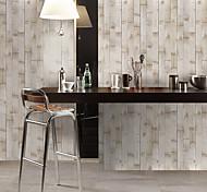 economico -1 pz simulazione adesivo da parete per pavimenti in grana di abete adesivo da parete in pvc impermeabile resistente all'usura adesivi addensati venatura del legno marrone 30 * 300 cm