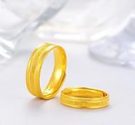 economico -Anelli per coppie Classico Oro Rame Placcato in oro Prezioso Di tendenza 2 pezzi Regolabile / Da coppia / Anello