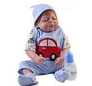 abordables -Vêtements de poupées Reborn Baby Accessoires de poupée Reborn Tissu en Coton pour poupée Reborn de 22 à 24 pouces Poupée Reborn Non Incluse Automatique Doux Pur fait main Garçon 5 pcs