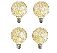 abordables -4 pcs créatif edison ampoule décoration vintage g95 led lampe à incandescence fil de cuivre chaîne e27 110 v 220 v remplacer les ampoules à incandescence