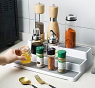 abordables -Étagère à épices en plastique à 3 niveaux étagère multifonctionnelle étanche et antidérapante pour cuisine