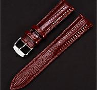 economico -vera pelle Cinturino per orologio  Nero / Blu / Rosso 20cm / 7.9 Pollici 1.2cm / 0.47 Pollici / 1.4cm / 0.55 Pollici / 1.6cm / 0.6 Pollici