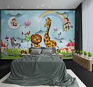 abordables -Personnalisé auto-adhésif mural dessin animé animal girafe adapté pour fond mur café hôtel décoration murale art décoration de la maison