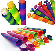 abordables -1 pcs Moule En Silicone Glace Tube Avec Couvercles Coloré Glacé Glacé Yogourt Popsicl Maker Plateau D'été Boire Cuisine Accessoires