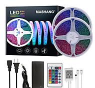 abordables -Mashang 32.8ft 10 m LED bandes lumineuses Ruban LED  RGB Tiktok lumières étanche 600leds smd 5050 avec 24 touches télécommande IR et adaptateur 100-240 V pour la maison chambre cuisine tv rétro-éclair