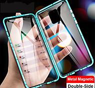 economico -telefono Custodia Per Xiaomi Integrale Custodia ad adsorbimento magnetico Xiaomi Mi 10 Xiaomi Mi 10Pro Con chiusura magnetica A calamita Doppia setola Tinta unita Vetro temperato Metallo