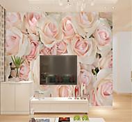 abordables -Personnalisé auto-adhésif mural rose image adapté pour fond mur restaurant chambre hôtel décoration murale art décoration de la maison