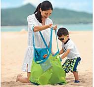 abordables -sac de plage maille rester à l'écart du sable durable intérieur extérieur portable main natation sport jouets stockage pour enfants enfants