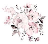 abordables -aquarelle rose floral / botanique stickers muraux avion stickers muraux stickers muraux décoratifs pvc décoration de la maison sticker mural décoration murale 2 pièces 90 * 30 cm