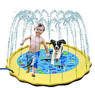 economico -irrigatore splash pad per bambini, giocattoli splash pad da 68 pollici per bambini&cani, tappetino da gioco gonfiabile per bambini, giochi d'acqua estivi all'aperto per bambini piccoli, neonati e