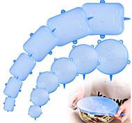 abordables -couvercles extensibles en silicone accessoires de cuisine accessoires en silicone réutilisable réglable 12pcs 6pcs pour le bol de fruits et légumes couvre les contenants pour garder les aliments frais