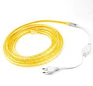 abordables -4 m 1 pc led bandes lumineuses Ruban LED flexibles tiktok lumières 220 v 5050 led ruban corde extérieure étanche jardin éclairage extérieur UE plug