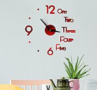 abordables -DIY numérique horloge murale 3d miroir surface autocollant silencieux horloge décor de bureau à la maison horloge murale pour chambre bureau batteries non incluses