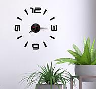 abordables -DIY Numérique Horloge Murale 3D Miroir Surface Autocollant Silencieux Horloge Décor À La Maison Bureau Horloge Murale Pour Chambre Bureau Pas de Batteries