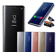 economico -telefono Custodia Per Samsung Galaxy Integrale Custodia in pelle Custodia flip S20 Plus S20 Ultra S20 S9 S9 Plus S8 Plus S8 Nota 9 Nota 8 S10 Resistente agli urti Con supporto A specchio Tinta unica