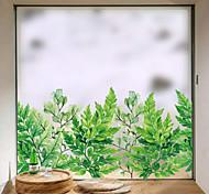 abordables -intimité givrée plantes vertes motif fenêtre film maison chambre salle de bain verre fenêtre film autocollants autocollant autocollant 58 x 60 cm