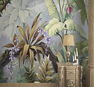 abordables -Feuille de bananier murale auto-adhésive personnalisée adaptée au fond mur restaurant chambre hôtel décoration murale art