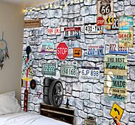 abordables -nostalgie du modèle de caractère de plaque d'immatriculation de tapisserie de murs en pierre ou de tissu de fond ou de tissu décoratif