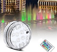 abordables -smd5050 rgb lumière de nuit sous-marine étang submersible aaa à piles IP65 lampe de piscine étanche pour l'éclairage de fête de mariage
