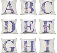 economico -Fodera per cuscino in lino 9 pezzi, carattere floreale inglese a-i casual classico quadrato classico tradizionale