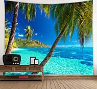 abordables -tapisserie murale art décor couverture rideau pique-nique nappe suspendu maison chambre salon dortoir décoration vacances vacances paysage mer océan plage cocotier