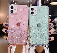 economico -telefono Custodia Per Apple Per retro iPhone 12 Pro Max 11 SE 2020 X XR XS Max 8 7 6 iPhone 11 Pro Max SE 2020 X XR XS Max 8 7 6 Traslucido Glitterato TPU Metallo
