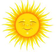 abordables -Dessin animé soleil nature morte stickers muraux avion stickers muraux stickers muraux décoratifs pvc décoration de la maison sticker mural décoration de mur / fenêtre 1 pc 31 * 31 cm
