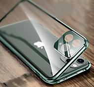 economico -telefono Custodia Per Apple Integrale iPhone 12 Pro Max 11 SE 2020 X XR XS Max 8 7 Resistente agli urti Doppia setola Protezione per obiettivo della fotocamera Transparente Metallo