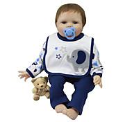 abordables -Vêtements de poupées Reborn Baby Accessoires de poupée Reborn Tissu en Coton pour poupée Reborn de 22 à 24 pouces Poupée Reborn Non Incluse Eléphant Doux Pur fait main Garçon 3 pcs