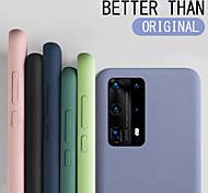 economico -telefono Custodia Per Samsung Galaxy Per retro Silicone Custodia in silicone S20 Plus S20 Ultra S20 Resistente agli urti Tinta unita Silicone