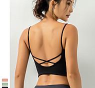 economico -Per donna Top yoga Reggiseno Supporto leggero Retro incrociato Senza fili Di tendenza Nero Verde Rosa Chiaro Nylon Yoga Fitness Corsa Buon top Sport Abbigliamento sportivo Asciugatura rapida