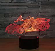 """economico -Luce notturna 3D Auto Illuminazione LED Fantasia """"Cartone 3D"""" 5 V Porta USB Batterie 3 * AAA (NON INCLUDE) per regali di compleanno e bomboniere"""