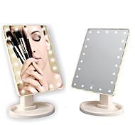 economico -22 luci led touch screen specchio per il trucco luminoso regolabile uso usb 360 comodo specchio rotante