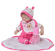 abordables -Vêtements de poupées Reborn Baby Accessoires de poupée Reborn Tissu en Coton pour poupée Reborn 17-18 pouces Poupée Reborn Non Incluse Ours Doux Pur fait main Fille 5 pcs
