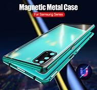 economico -telefono Custodia Per Samsung Galaxy Integrale Custodia ad adsorbimento magnetico S20 Plus S20 Ultra S20 Doppia setola Trasparente Schermo curvo Tinta unita Vetro temperato Metallo