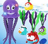 abordables -Jouets aquatiques Jouets pour piscine Ensembles de jeux d'eau Jouets de bain Animal marin ABS Éclairage Flottant Bleu Baignoire Eté pour les tout-petits, cadeau de bain pour les enfants et les