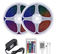 abordables -Mashang 32.8ft 10m LED bandes lumineuses Ruban LED  RGB Tiktok lumières étanche 600leds smd 2835 avec 24 touches télécommande IR et adaptateur 100-240V pour la maison chambre cuisine tv rétro-éclairag