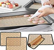 abordables -tapis de cuisson antiadhésif pâte de silicone macaron plateau four cuisson fondant pâtisserie moule moule feuille tapis pad 1 pc 29.5x42 cm