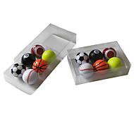abordables -Boîtes Cadeaux Balle de Golf 6 pièces Portable Durable Plastique Pour Athleisure Le golf