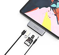 abordables -LITBest Haut débit Avec lecteur de carte (s) Fonction de livraison de puissance de support USB-C to USBA 3.0 PD3.0 60W SD/TF Audio3.5mm USB 3.0 de USB C à USB 3.0 USB 3.0 de USB C Audio 3,5 mm carte