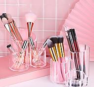 abordables -Transparent acrylique cosmétique brosse de stockage bin stylo conteneur bureau de stockage de stockage boîte