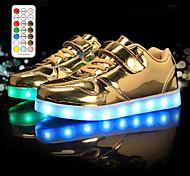 abordables -Garçon Fille Basket LED Chaussures Recharge USB Chaussures clignotantes Polyuréthane Chaussures LED Petits enfants (4-7 ans) Grands enfants (7 ans et +) Quotidien Course à Pied Marche Strass LED