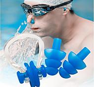 abordables -pince-nez en silicone souple pour la natation plongée sports nautiques bouchons d'oreilles bouchons d'oreilles