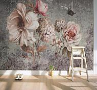 abordables -Papier peint mural auto-adhésif personnalisé peint à la main grande fleur fond mur adapté pour chambre salon café restaurant restauran