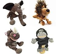 abordables -4 pcs Marionnettes de Doigt Jouet Educatif Marionnette Marionnettes à main Animaux en Peluche Séries animales Eléphant Lion Interaction parent-enfant PP Pluche 32cm Jeu imaginatif, bas, grands