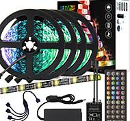 abordables -ZDM 20 m (4 * 5 m) noir de haute qualité musique pcb chronométrage contrôle synchrone barre lumineuse flexible 5050 rgb ir 40 contrôleur clé avec kit adaptateur 12v 8a