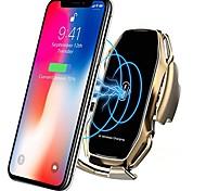 economico -supporto intelligente per telefono veicolare caricabatterie wireless ricarica veloce supporto universale per auto compatibile iphone 11/11 pro / 11 pro max / xs max / xs / xr / x / 8/8 + samsung s10 /