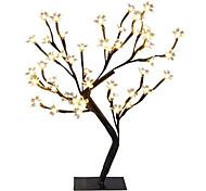 abordables -1x DC5V USB Power 24LEDs Lampe De Table Fil De Cuivre De Noël Fleurs De Cerisier Arbre Veilleuse Blanc Chaud Lampe De Table Maison Bureau Maison Décoration Intérieure Éclairage