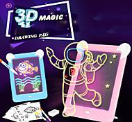 abordables -Planche à dessin légère Tableau à feuilles mobiles pour le dessin Dessin avec lumière Bloc de dessin magique 3D Lumière LED Développement du dessin Développer l'écriture Enfant Garçons et filles pour